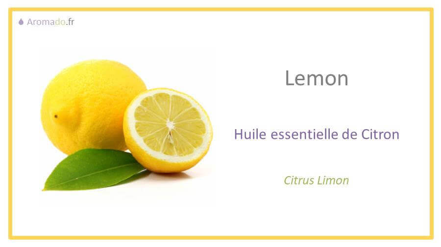 he citron est une huile essentielle de citron.
