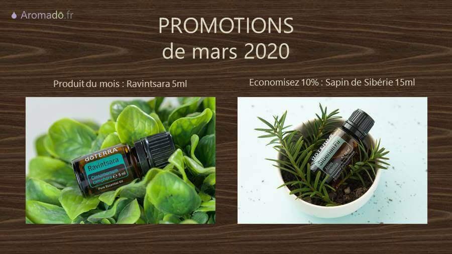 promotion doterra mars 2020 ravintsara et sapin de sibérie