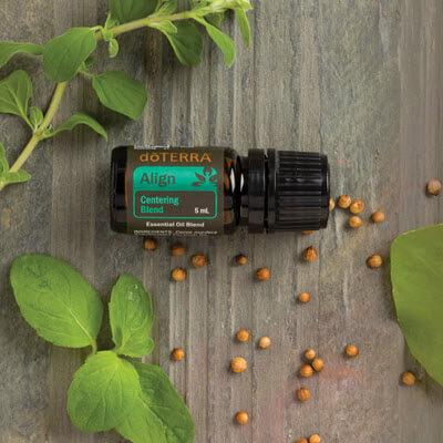 Align, une synergie d'huiles essentielles doterra pour se recentrer