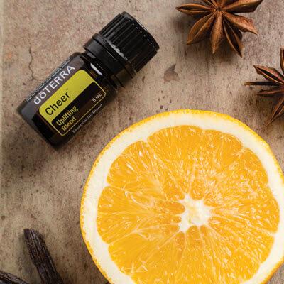 Cheer, la synergie d'huiles essentielles doterra est un mélange exaltant