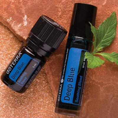 deep blue, une synergie d'huiles essentielles proposée par la société doTERRA
