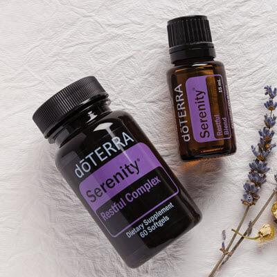 synergie d'huiles essentielles Serenity, le mélange reposant proposé par doterra